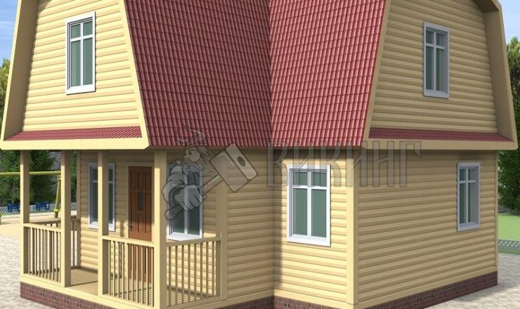 Деревянный дом 9x9 Гамма-44