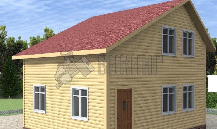 Деревянный дом 6x7 Альфа-2