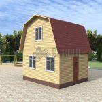 Деревянный дом 4x5 Гамма-1