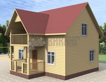 Деревянный дом 6x8 Альфа-3
