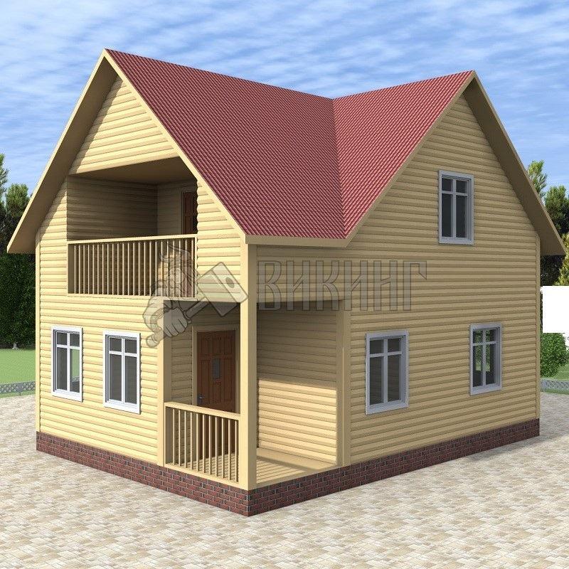 Деревянный дом 6x8 Альфа-4