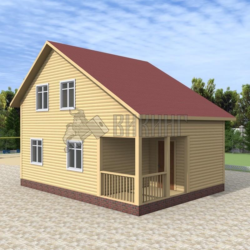 Деревянный дом 6x8 Альфа-5