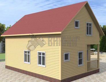 Деревянный дом 6x9 Альфа-6