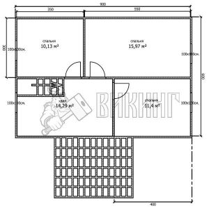 Деревянный дом 6x9 Альфа-7 (План 2-го этажа)