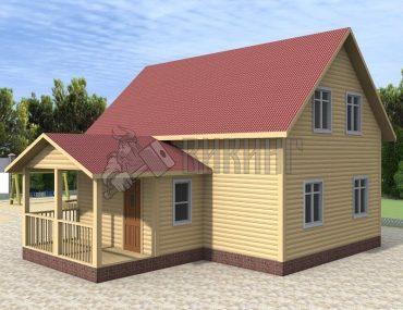 Деревянный дом 6x9 Альфа-7