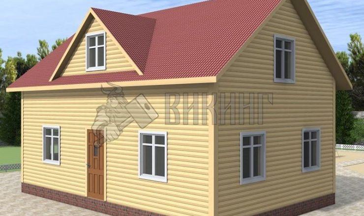 Деревянный дом 6x9 Альфа-8