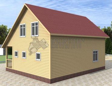 Деревянный дом 7,5x9 Альфа-9