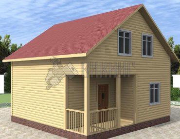 Деревянный дом 7x7 Альфа-10