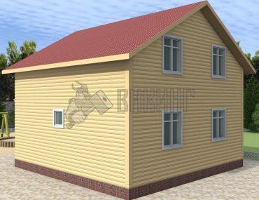 Деревянный дом 7x7 Альфа-34