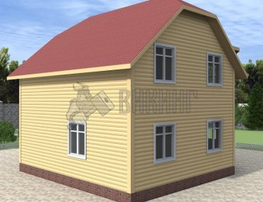 Деревянный дом 7x7,5 Альфа-11