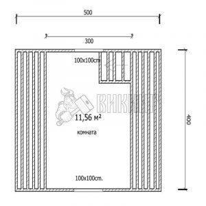 Деревянный дом 4x5 Гамма-2 (план мансарды)
