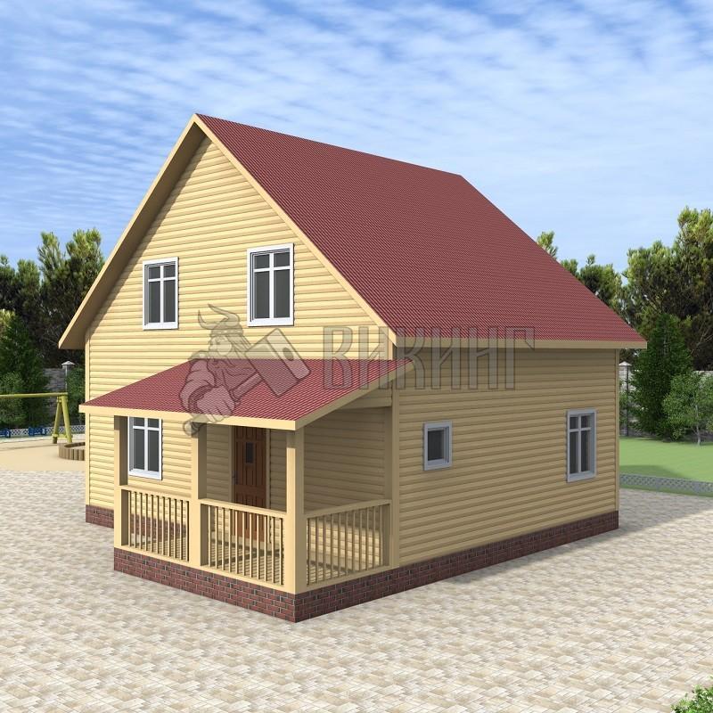 Деревянный дом 7x8 Альфа-12