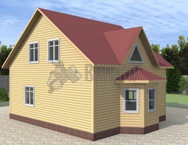 Деревянный дом 7x8 Альфа-13