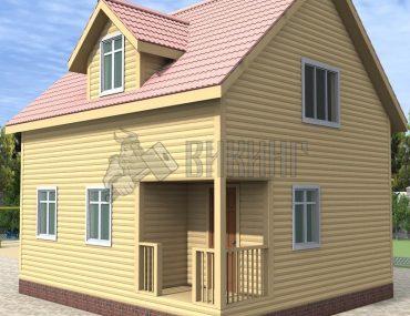 Деревянный дом 7x8 Альфа-36
