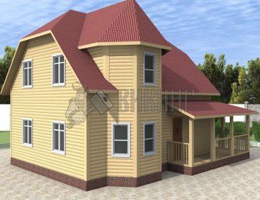 Деревянный дом 7x9 Альфа-15