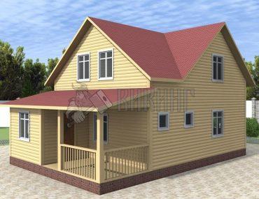 Деревянный дом 7x10,5 Альфа-16 (План 1-го этажа)