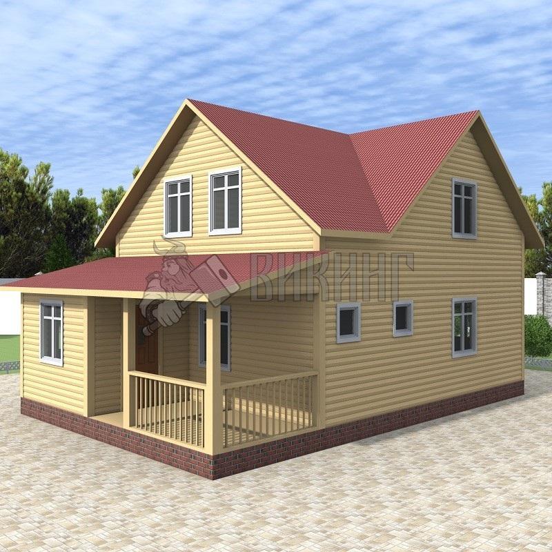 Деревянный дом 7x10,5 Альфа-16