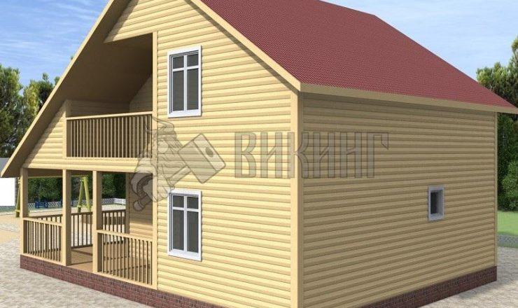 Деревянный дом 8x8 Альфа-17