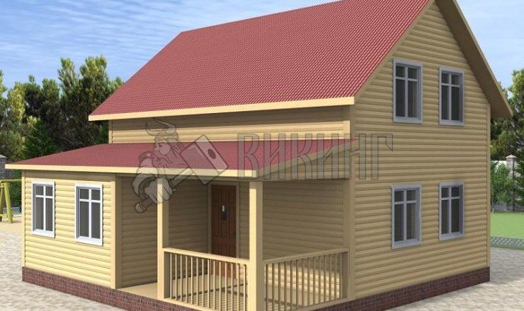Деревянный дом 8x8 Альфа-18