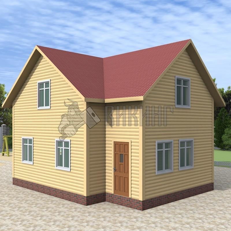 Деревянный дом 8x8 Альфа-19