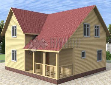Деревянный дом 8x8,5 Альфа-20
