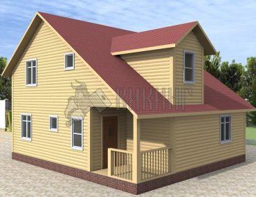 Деревянный дом 8x9 Альфа-21