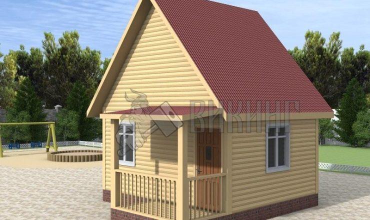 Деревянный дом 4x5 Гамма-3