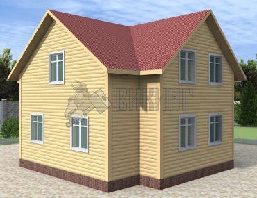 Деревянный дом 8x9 Альфа-23