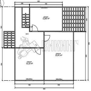 Деревянный дом 8x9 Альфа-24 (План 2-го этажа)