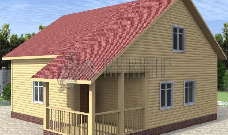 Деревянный дом 8x9 Альфа-24