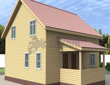 Деревянный дом 8x9 Альфа-35