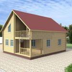 Деревянный дом 8x10 Альфа-26