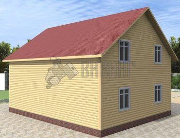 Деревянный дом 8x10 Альфа-27