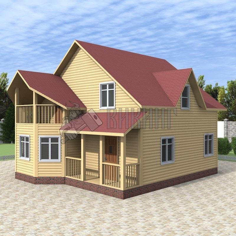 Деревянный дом 8x10 Альфа-28
