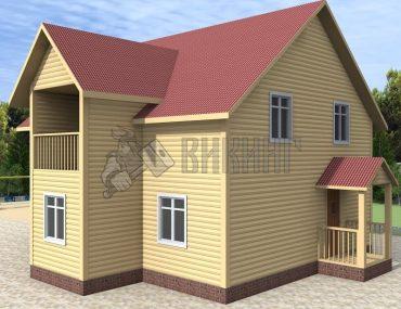 Деревянный дом 8x11,5 Альфа-29