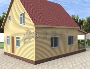 Деревянный дом 8x12 Альфа-37