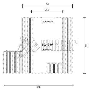 Деревянный дом 4x5 Гамма-4 (план мансарды)