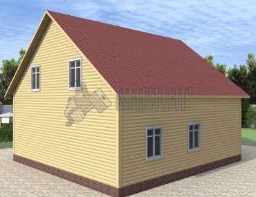 Деревянный дом 10x12,5 Альфа-31