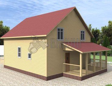 Деревянный дом 10x12,5 Альфа-32