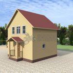 Деревянный дом 6x6 Альфа-1