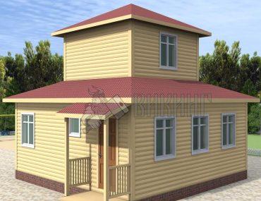 Деревянный дом 7x7 Альфа-33
