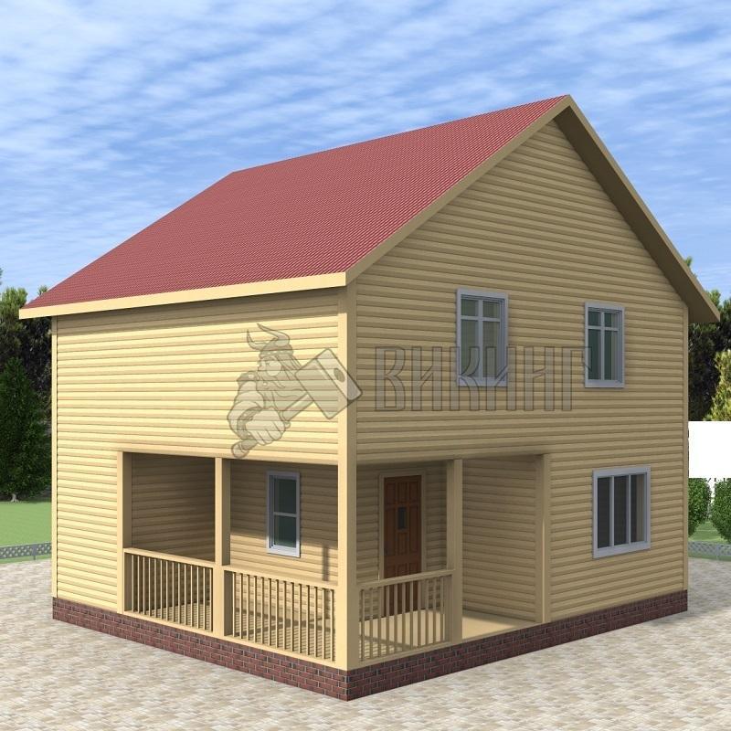 Деревянный дом 7x8 Альфа-14
