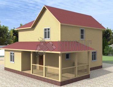 Деревянный дом 8x10 Альфа-25