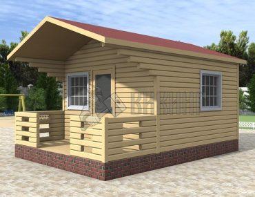 Садовый Дом 4x4 С террасой