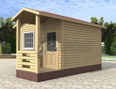 Садовый Дом 4x4 С террасой с тер. 1.5x1.5