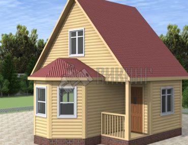 Деревянный дом 4x6 Гамма-5