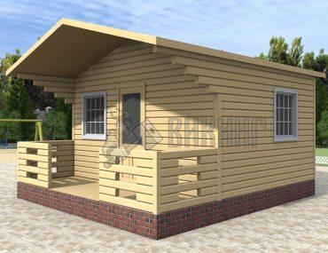 Садовый Дом 5x4,5 С террасой