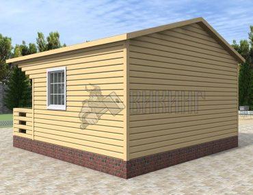 Садовый Дом 6x4,5 с террасой