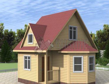 Деревянный дом 4x6 Гамма-6
