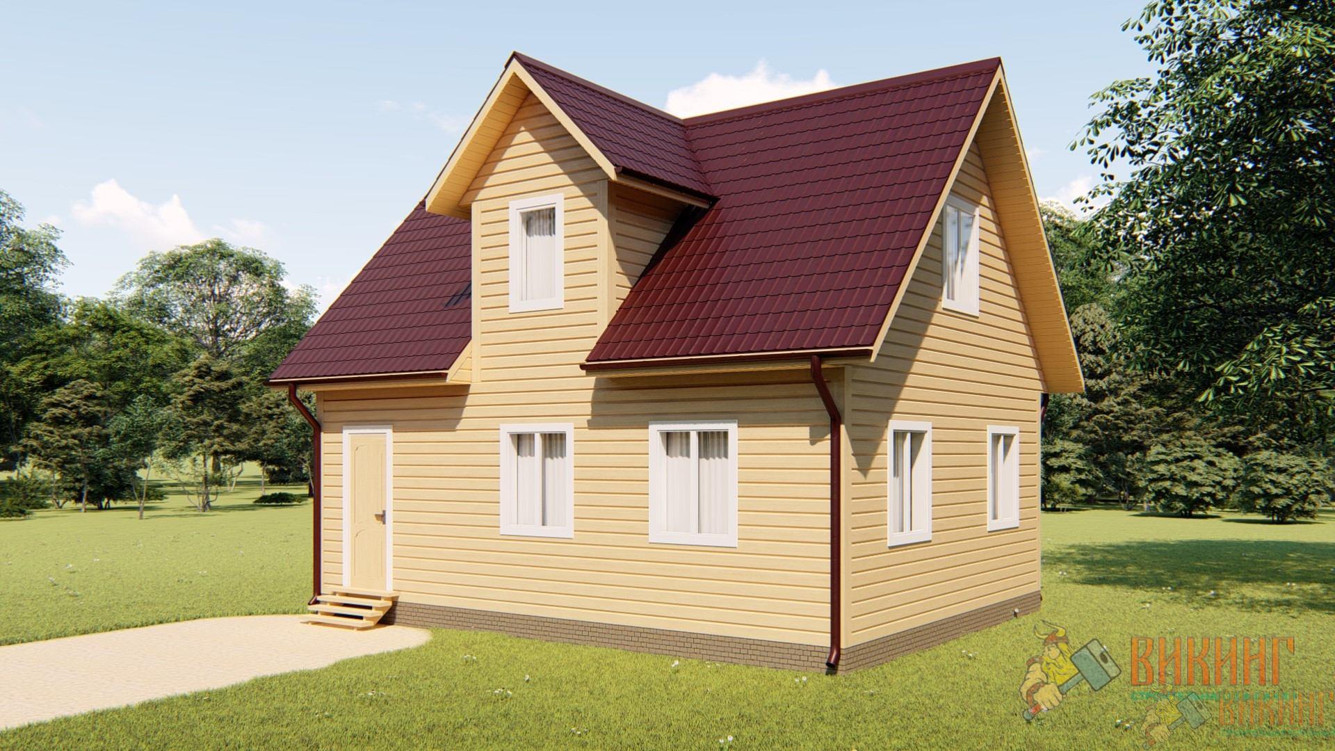 Каркасный дом 6х8 с мансардным этажом